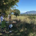 Painting near Castel S. Elia