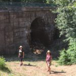 The ancient Roman bridge on the Via Amerina